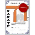 Certificate orange belt