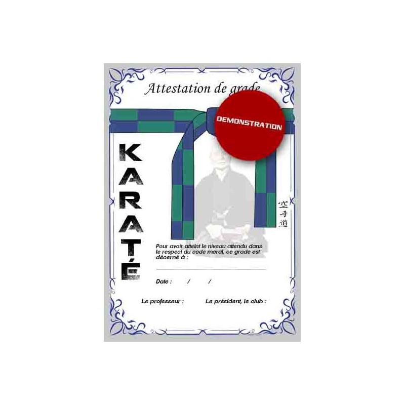 Certificación del cinturón verde azul