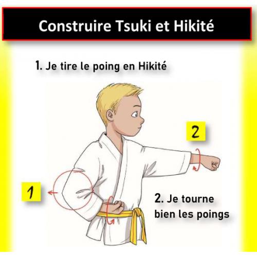 Poster progressione del grado di karate per bambini